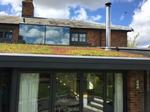 lightweight sedum green roof domestic greeningl extension